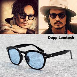 Vente en gros JackJad 2018 Mode Johnny Depp Lemtosh Style lunettes de soleil Vintage Rond Teinte Océan Marque Marque Lunettes de Soleil Oculos De Sol