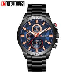 blue water sports 2018 - CURREN 2018 New Top Brand Luxury Watch Men Fashion Quartz Wristwatches Male Army Sport Watches Relogio Masculino 8275 di