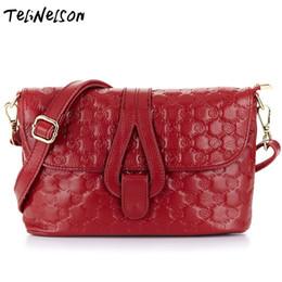 Multi Color Ladies Handbags NZ - New Casual Handbags Diagonal Mini Bag First-class Genuine Leather Embossed High-end Simple Ladies Bag Wine Red