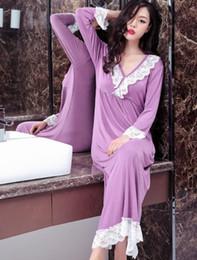 b197177973 100% Real Photos Women M L XL XXL Long Loose casual Modal Cotton sleepwear  night dress Pajamas women s night gowns Robes RB296