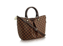 China Damier canvas SIENA medium handbag N41546 TOP OXIDIZED REAL LEATHER ICONIC BAGS SHOULDER BAG TOTES CROSS BODY BUSINESS MESSENGER BAGS cheap jelly bucket candy handbag suppliers
