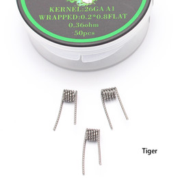 Alien Flat Wire Australia - A1 Heating Wire Coil RDA Coil Flat twisted Fused Clapton Coils Prebuilt Wrap Wires Alien Mix Twisted