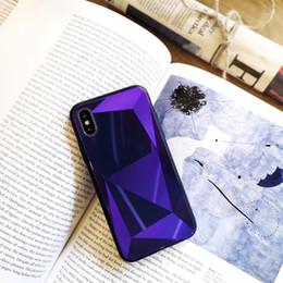 Hot Sales Iphone Case Australia - 2018 Hot sale for iphone 8 plus case Diamond grain 3D stereo scopic tempered glass for Goophone x designer phone case