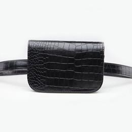$enCountryForm.capitalKeyWord Canada - Brand Design PU Leather Waist Bag For Women Korean Style Alligator Waist Pack Ladies Travel Belt Wallets Holder