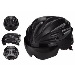 Discount security men - Security Cycling Helmet Bicycle Helmet with Visor Lens for MTB Mountain Bike New