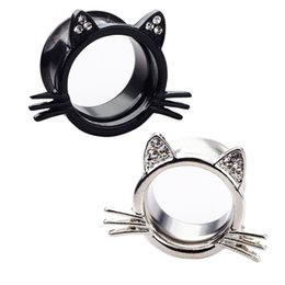 Ear strEtchEr Earrings online shopping - 20PCS Ear Gauges hello kitty Ear Plugs Ear Tunnels Body Jewelry Stretchers stainless steel Size mm big Earring
