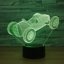 $enCountryForm.capitalKeyWord Australia - Racing Car 3D Optical Illusion Lamp Night Light DC 5V USB Powered 5th Battery Wholesale Dropshipping Free Shippin
