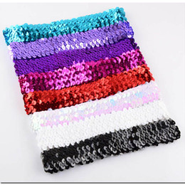 sequin sparkly UK - Sparkly Sequin Glitter Headbands Grab Bag Assorted Pack Girls Headbands Sparkly Hair Head Bands