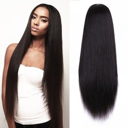 $enCountryForm.capitalKeyWord Australia - Long silky straight natural color looking hair glueless lace front wig& full lace wig for african americans woman 8-26inch heat resistant