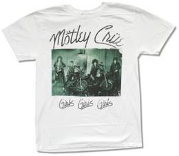 $enCountryForm.capitalKeyWord Canada - Motley Crue Green Bikes White T-Shirt New Official Adult Motley Girls Girls T Shirt Men's Short Sleeve Cheap Price Brand Apparel