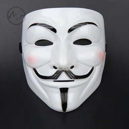 v vendetta cosplay Canada - Cool V For Vendetta Mask Guy Fawkes Anonymous Halloween Fancy Dress Costume Cosplay Venetian Carnival Mask Anonymous