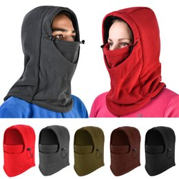 Wholesale 11styles Unisex Warm Balaclava Hood cap Outdoor Ski Winter Windproof Face Mask Hat cycling bicycle caps Beanies FFA955