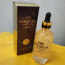 block lamp 2019 - New Arrival Skinature 24k Goldzan Ampoule Gold Day Creams & Moisturizers Gold Essence Serum Makeup Primer 100ml DHL free