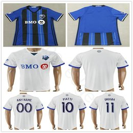 5c4705910 2018 Montreal Impact Soccer Jerseys PIATTI EDWARDS MANCOSU TAIDER ODURO  CIMAN DROGBA BERNIER DUKA Custom Hme Blue Away White Football Shirt