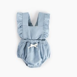 BaBy toddler halloween online shopping - Newborn Baby Boy Girl Clothes Autumn Baby Rompers Ruffle Cotton Infant Jumpsuit Toddler Clothing with Bow Princess