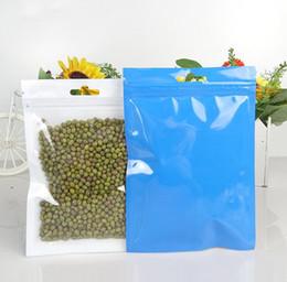20f071f85 100 pcs Azul Embalagem Clara Sacos De Plástico Zip Bloqueio Com Furo  Pendurar Embolsos Poli Reclosable Food Electronics Acessórios Embalagem