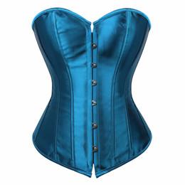ddb789cbd40 caudatus vintage corset tops for women plus size wedding bridal bustier  corset lingerie sexy corselet overbust shapewear blue