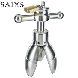 AnAl tools online shopping - Anal Stretching open tool Adult SEX Toy Stainless Steel Anal Plug With Lock Expanding Ass Appliance Sex Toy Drop shipping Y18110106