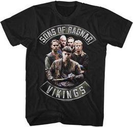 $enCountryForm.capitalKeyWord UK - Vikings Sons Of Ragnar Licensed Adult T Shirt History Drama Series TV Show Comfortable top tee