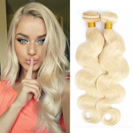 Discount bundles 18 inch ombre hair extensions 613 Blonde Extensions 4 Bundle Deals Body Wave Virgin Hair 12-26 inch Peruvian Brazilian Indian Remy Human Hair Weave Bu