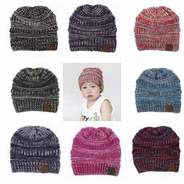 8 color kids cc Beanies Trendy Knitted e Crochet Boys Girls Hats Children  Newborn Warm Cap Kids Winter Chunky Caps 0-6 years KKA5776 07676423a798