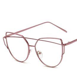 84260a4be1 Vazrobe Cat Eye Glasses Women Vintage Decoration Female Nerd Points Eyeglasses  Frames with Clear Lens Prescription Spectacles