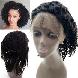 $enCountryForm.capitalKeyWord Australia - Afro Kinky Curly 360 Lace Frontal with Adjustable Straps Peruvian Mongolian Cambodian Human Hair with Baby Hair FDSHINE