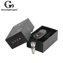 electric nail bong UK - Original G9 Electric Tick Enail Nail Dabber Temperature Control Box With Ti Nail Carb Cap Water Pipes Bong Wax Vaporizer DHL Free Shppingi