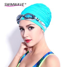 Hair Swimming NZ - Elastic Ultrathin PU Fabric Protect Ears Long Hair Sports Swim Pool Hat Swimming Cap Free Size for Men Women Adults