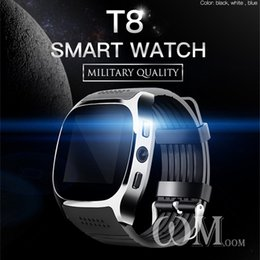 Facebook For Android NZ - New T8 Bluetooth Smart Watch With Camera Sync Call Message Facebook Support SIM&TF Card Call Smartwatch For Android Phone PK M26 DZ09