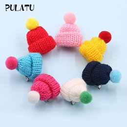 Wholesale Material For Hats NZ - PULATU Multicolor Hat Brooches for Women Fashion Wool Materials Brooch Pins Kid's Coat Decoration Female Accessories Wholesale