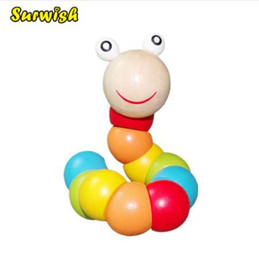 $enCountryForm.capitalKeyWord UK - Surwish Baby Toys Changed Color Twisting Worm Baby Toy Train Baby Fingers Flexibility