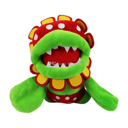 Discount video game plush mario - Super Mario plush toys 2018 new Mario Piranha flower Stuffed Animals 18cm 7 inches Dolls C4139