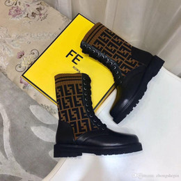 Ladies brown Lace up boots online shopping - brand new women socks Slim Ankle Boots knitted sexy elastic fashion Low heel ladies winter boots Original box EU34