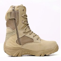Special forceS deSert bootS online shopping - Winter Autumn Men Military Boots Quality Special Force Tactical Desert Combat Ankle Boats Army Work Shoes Leather Snow Boots