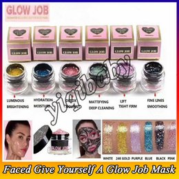 mask stock NZ - 2018 New In stock Faced 6 colors Radiance Boosting give yourself a glow job mask Glitter face mask DHL Free shipping