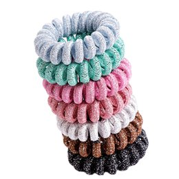 $enCountryForm.capitalKeyWord UK - New Hot Selling Elastic Hair Rubber Bands Candy Color Telephone Cord Hair Ties For Women Girls Fashion Hair Accessories Wholesale
