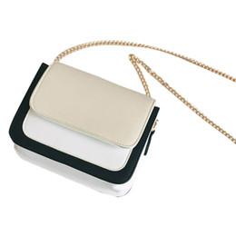 luxury chain crossbody handbag 2019 - Fashion women's Shoulder bags luxury handbags women bags designer Leather Chain Patchwork Hasp Crossbody Messenger