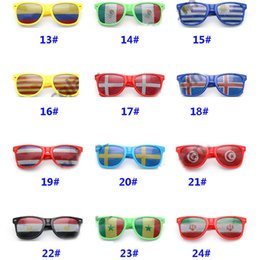 sunglasses bars NZ - 36 Style Bar Party Fans Sunglasses For National Flag 2018 Football Festival Fans Sunglasses Party Favor Gifts DHL SHip HH7-956