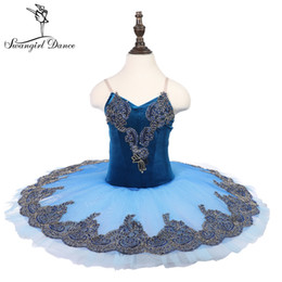 tutu for ballerinas Australia - women Ballerina blue sleeping beauty performance stage pancake tutu dress costume adult dance tutu for girls18081