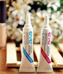 DHL Free 7g Eye Lash Glue Black White Makeup Eye Lash Adhesive Waterproof False Ресницы Клей Белый и Черный Доступный 1200Pcs