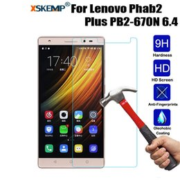 Discount tablet screen guard - XSKEMP 9H Tempered Glass Film For Lenovo Phab2 Plus PB2-670N 6.4 Ultra Clear HD Screen Protector Tablet Protective Guard
