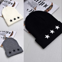 4eadb5503ee Simple Knitted Hat Canada - Simple Knitted Hat Stars Embroidery Wool Keep  Warm Fashion Hip Hop