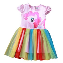 pony girl cartoon UK - New Year Baby Girl Dress Children little Pony Girls Dresses Cartoon Princess Party Costume Dress Kids Clothes Summer Clothing