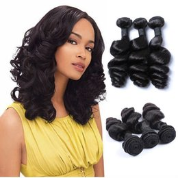 $enCountryForm.capitalKeyWord Australia - Brazilian Hair 3 Bundles Human Hair Weave Indian Malaysian Peruvian Brazilian Virgin Hair 8-30 inch Loose Wave Customized