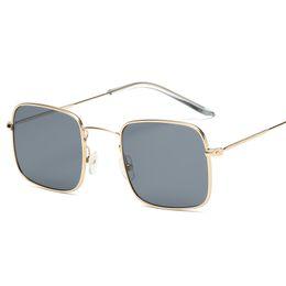 067ab3b6cc1 2018 Master Design Brand Square Colored Lens Metal Sunglasses Men s and  Women s Sunglasses Summer Trend Eyewear