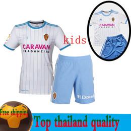 af886958fd021 Maillot de fútbol del Real Zaragoza camiseta infantil 18 19 Home blanco  ZAPATER PAPU MIGUEL 2018 2019 POMBO boy set camiseta de uniforme de fútbol  Zaragoza ...
