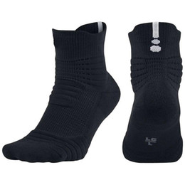 Wholesale mechanic towels for sale - Group buy New Brand Men Elite Outdoor Sports Basketball Socks Professional Cycling Socks Thicker Towel Bottom Non slip Male Absorb Sweat Running Socks