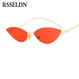 shades for boys 2019 - RSSELDN Fashion Cute Sexy Cat Eye Sunglasses Women Small Frame Black Red Vintage Sun glasses for Women 2018 Summer Shade