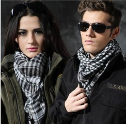Scarf Square Cotton Australia - 100% Cotton Thick Muslim Hijab Shemagh Tactical Desert Arabic Scarf Arab Scarves Men Winter Military Windproof Arab square Scarves